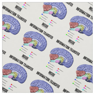 Information Transfer Inside Brain Anatomy Humor Fabric