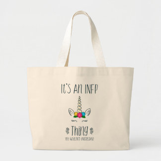 INFP Thing Unicorn Large Tote Bag