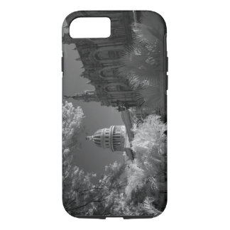Infra red of Capitol building dome in Havana iPhone 7 Case