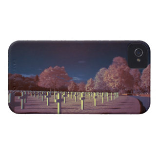 Infrared American Cemetery Crosses iPhone 4 Cover