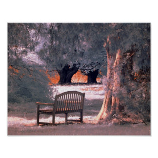 Infrared bench poster