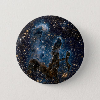Infrared Eagle Nebula Pillars of Creation 2 Inch Round Button