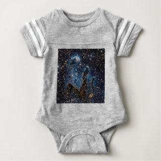 Infrared Eagle Nebula Pillars of Creation Baby Bodysuit