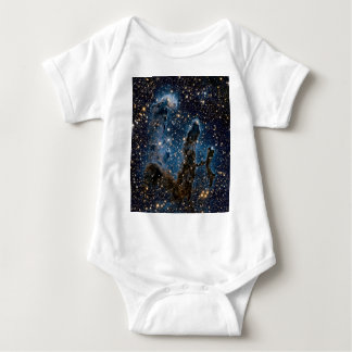 Infrared Eagle Nebula Pillars of Creation Baby Bodysuit
