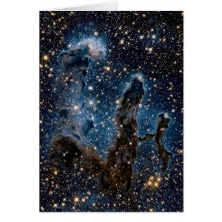 Infrared Eagle Nebula Pillars of Creation Card