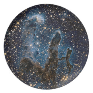 Infrared Eagle Nebula Pillars of Creation Plate