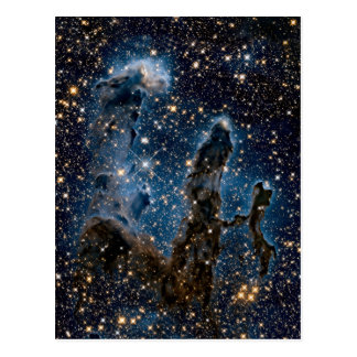 Infrared Eagle Nebula Pillars of Creation Postcard