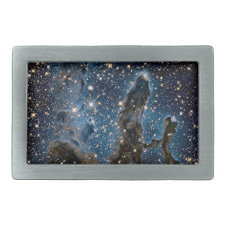 Infrared Eagle Nebula Pillars of Creation Rectangular Belt Buckle