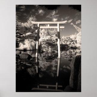 Infrared Garden Photograph Poster
