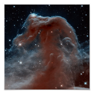 Infrared Horsehead Nebula Poster