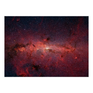 Infrared Image of the Center of Milky Way Galaxy Poster
