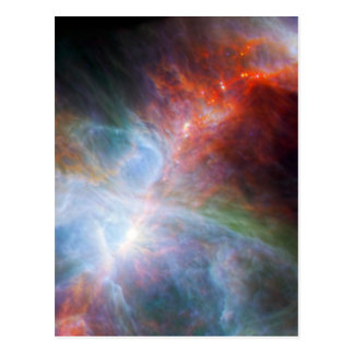 Infrared Light in the Orion Nebula Postcard
