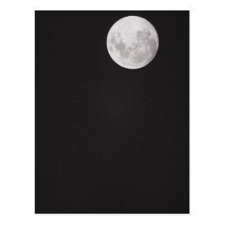 Infrared moon. postcard