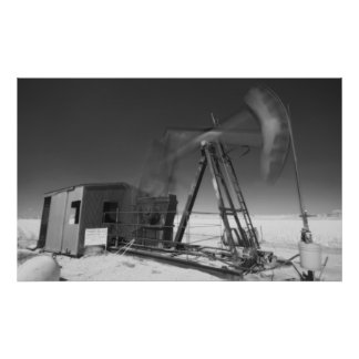 infrared oil well poster