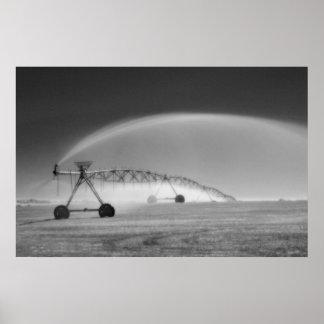 infrared pivot sprinkler east of loveland colorado poster