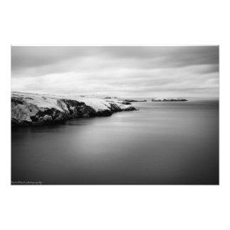 infrared welsh coastline photo print