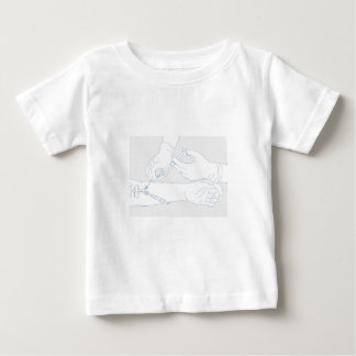 Infusion Therapy Diagram Mono Line Baby T-Shirt