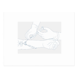 Infusion Therapy Diagram Mono Line Postcard