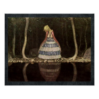 Inge by the Lake Swedish Fairytale Poster