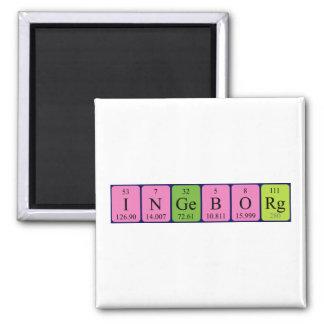 Ingeborg periodic table name magnet