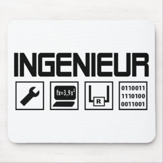 ingenieur with tools icon mouse pad