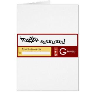Inglip Summoned and Gropaga Greeting Card