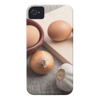Ingredients for cooking in retro style iPhone 4 cases