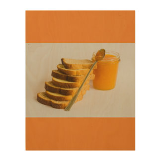 ingredients of  healthy breakfast on Wood Wall Art Wood Print