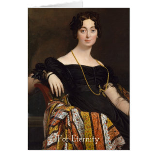 Ingres Formal Lady In Black Dress For Eternity Card
