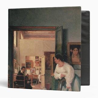 Ingres' Studio in Rome Vinyl Binder