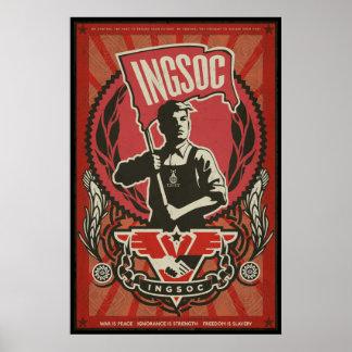 INGSOC 1984 Propaganda Poster