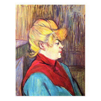 Inhabitant of the House of Joys - Toulouse-Lautrec Postcard