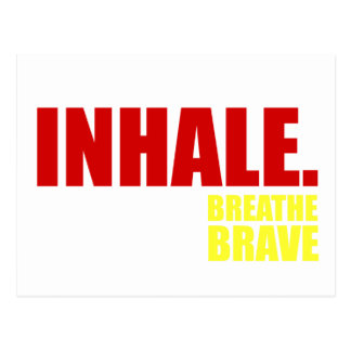 Inhale Breathe Brave - Survivor Jewelry Postcard