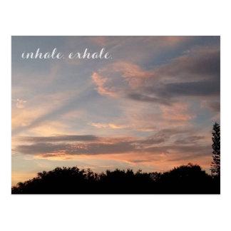 Inhale exhale postcard