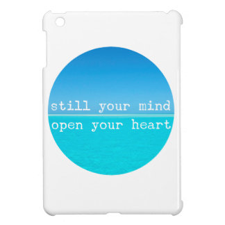 Inhale Exhale Relaxing Meditational Quote iPad Mini Covers