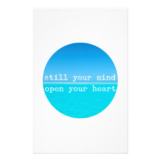 Inhale Exhale Relaxing Meditational Quote Stationery