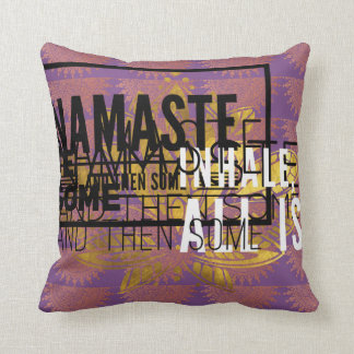 Inhale exhale yoga pillow