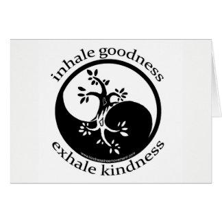 Inhale Goodness Blank Cards
