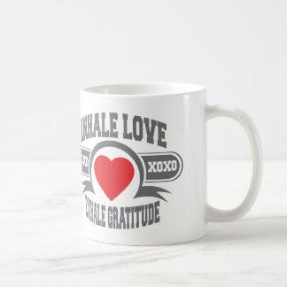 Inhale Love, Exhale Gratitude Basic White Mug
