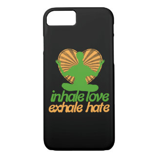 Inhale love exhale hate meditation iPhone 7 case