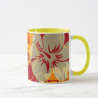 Iniki Point Hawaiian Hibiscus Camo Floral Mug