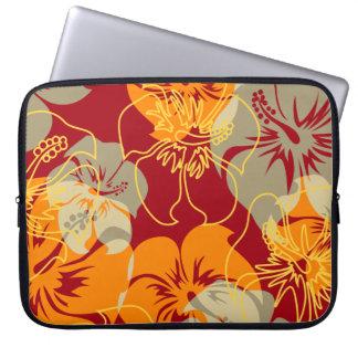 Iniki Point Hawaiian Hibiscus Neoprene Wetsuit Laptop Sleeve