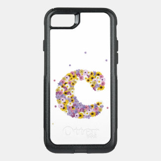 Inital letter C in flowers OtterBox Commuter iPhone 8/7 Case