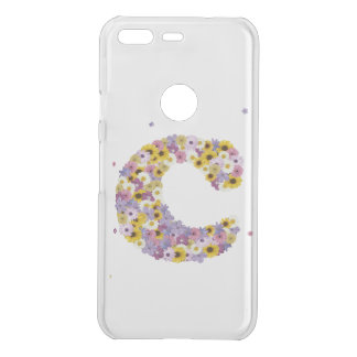 Inital letter C in flowers Uncommon Google Pixel Case