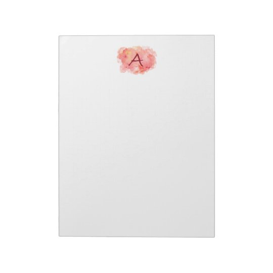 "Initial 'A' 11"" x 8.5"" - 40 pages Notepad"