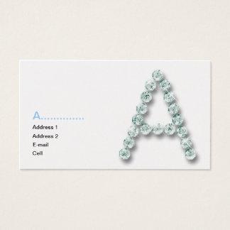 Initial A diamond Business Card