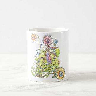 """Initial """"A"""" Hippy Design 11 oz Classic White Mug"""