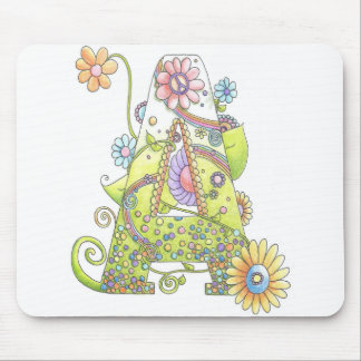 "Initial ""A"" Hippy Mousepad"