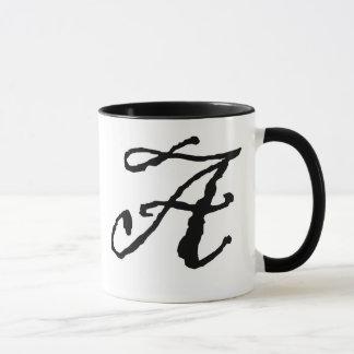 Initial A mug