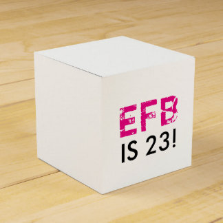 Initial Birthday Favor Box
